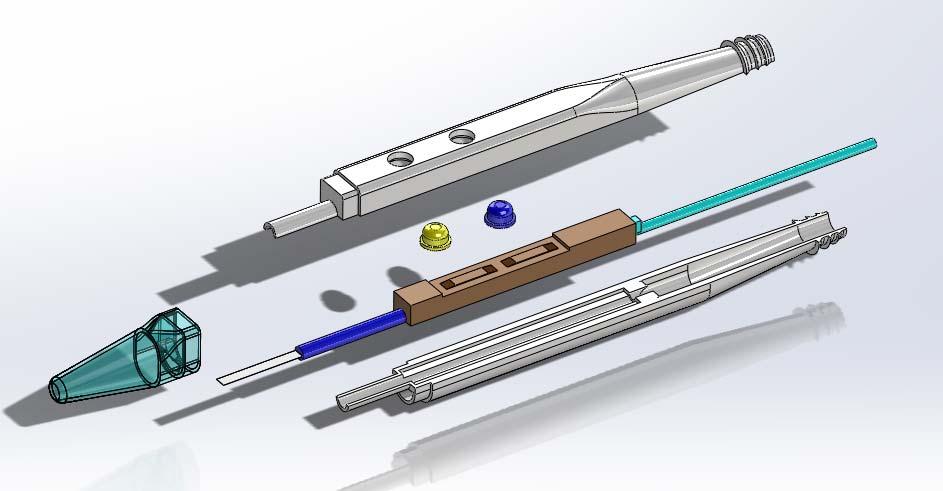 Electrosurgery smoke removal method prototype diagram